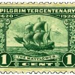 Sello conmemorativo del Tricentenario de los Peregrinos